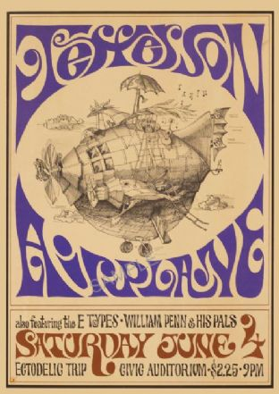 Jefferson Airplane 1960s Concert Print